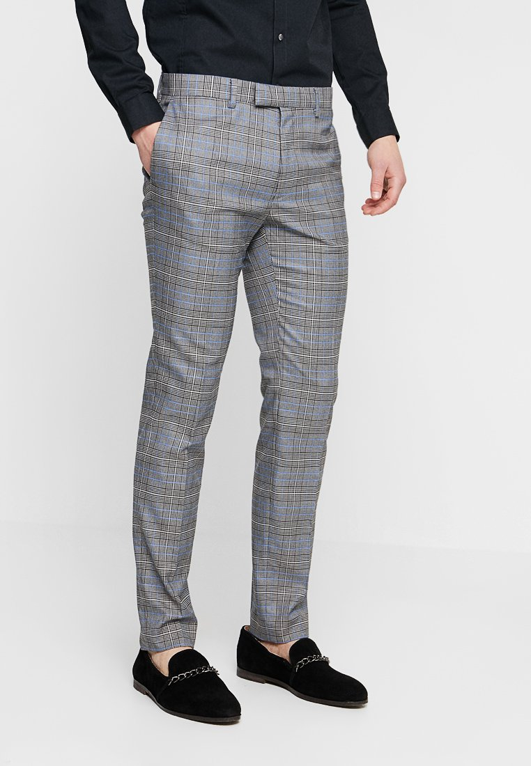 Topman - HIGHLIGHT CHECK - Anzughose - grey