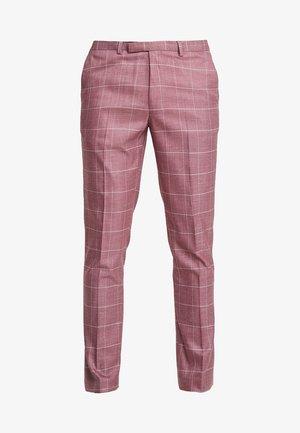 DUSTY WINDOWPANE - Anzughose - pink