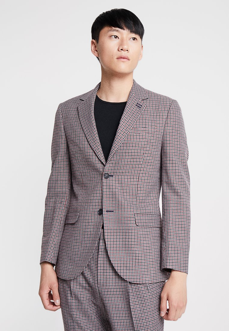 Topman - CHECK - Suit jacket - navy