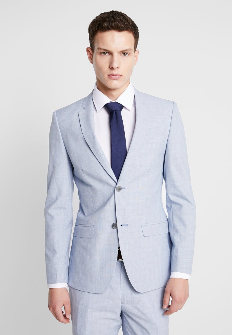Topman - CHECK - Veste de costume - blue