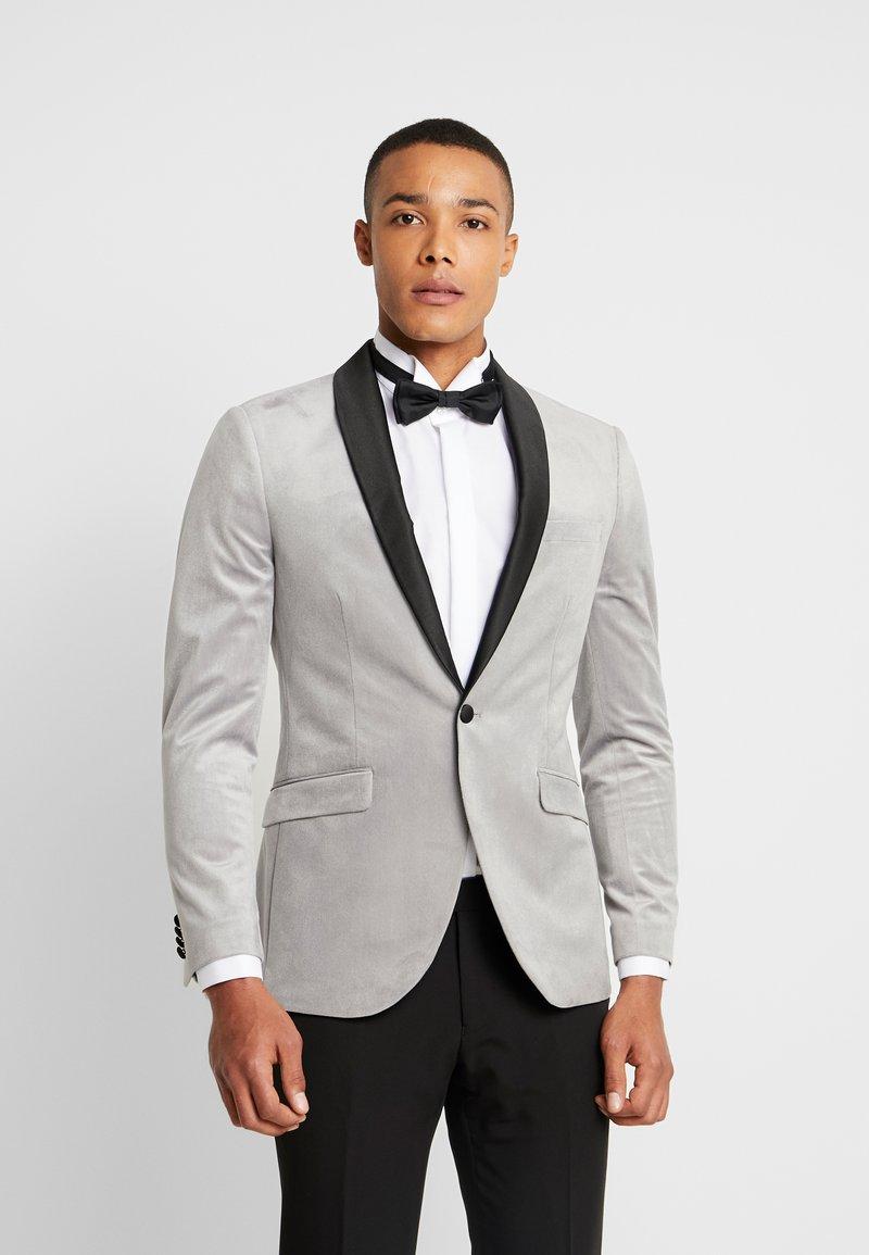 Topman - VELVET - Veste de costume - silver
