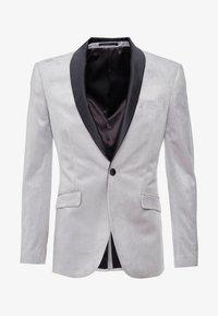 Topman - VELVET - Veste de costume - silver - 4