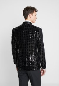 Topman - NIGHT SEQUIN EVENING JACKET - Veste de costume - black - 2