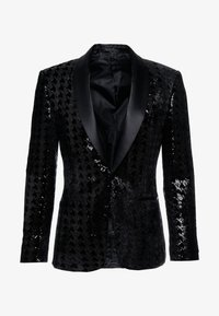 Topman - NIGHT SEQUIN EVENING JACKET - Veste de costume - black - 4