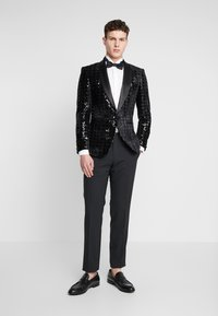 Topman - NIGHT SEQUIN EVENING JACKET - Veste de costume - black - 1