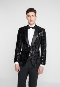 Topman - NIGHT SEQUIN EVENING JACKET - Veste de costume - black - 0