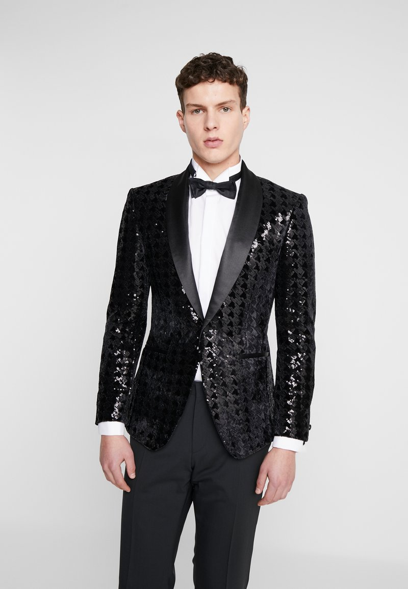 Topman - NIGHT SEQUIN EVENING JACKET - Veste de costume - black