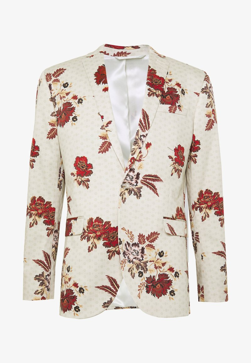 Topman - EIDELIC JACKET - Suit jacket - stone