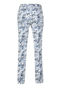 Topman - FLORAL - Spodnie materiałowe - blue - 1