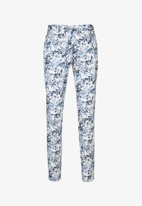 Topman - FLORAL - Spodnie materiałowe - blue - 0