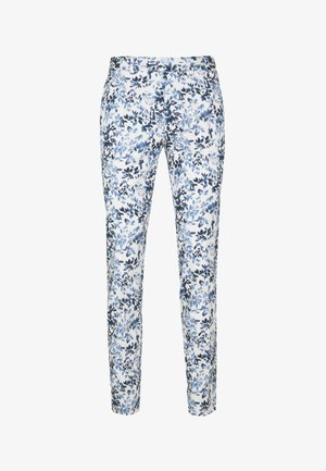 FLORAL - Trousers - blue