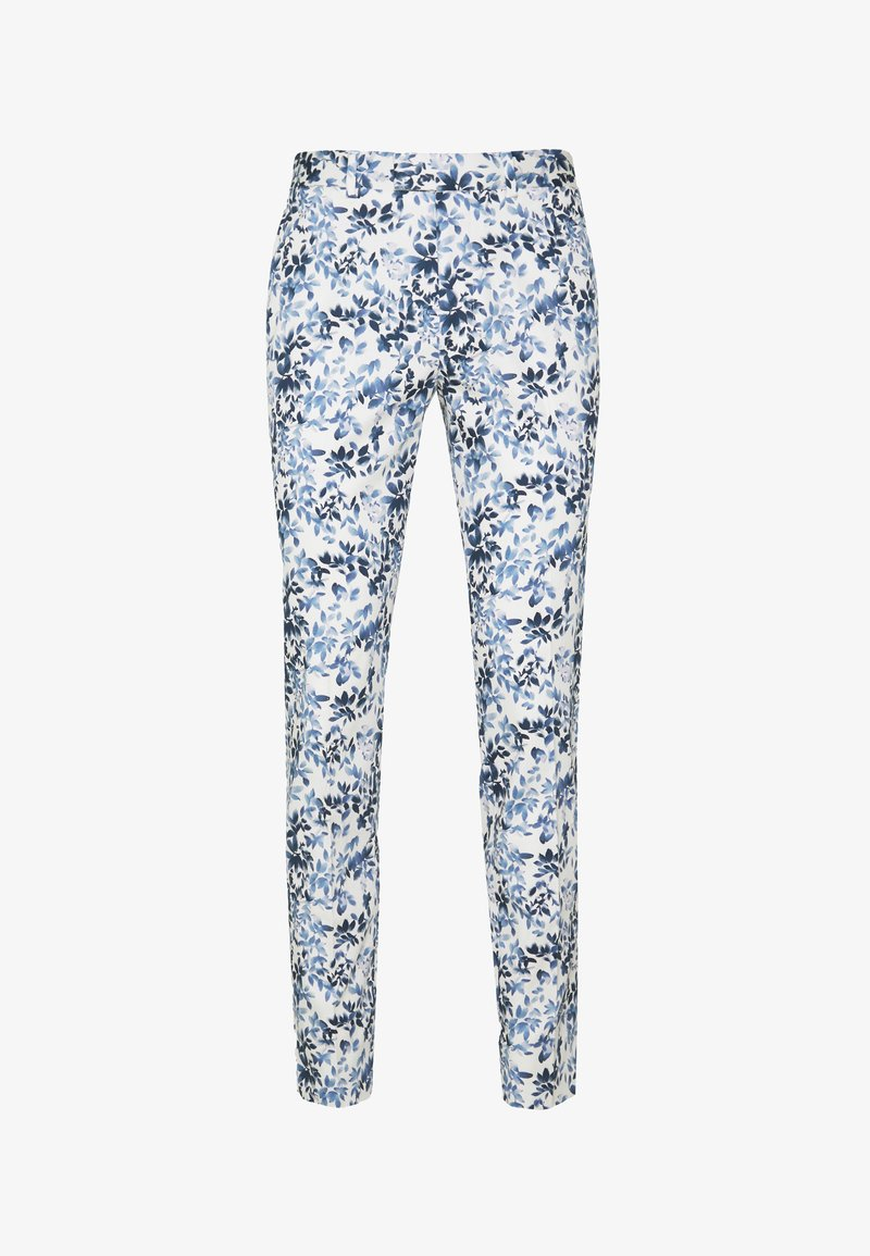Topman - FLORAL - Trousers - blue