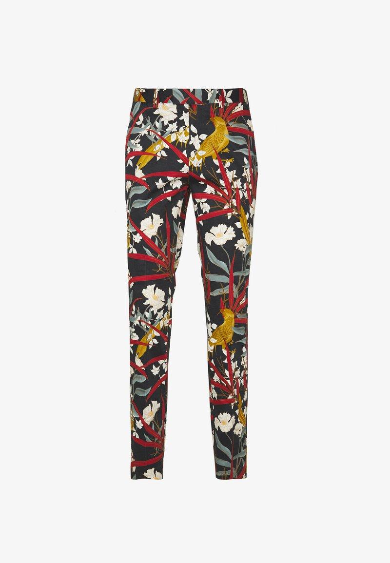 Topman - PARADISE BIRD TROUSER - Suit trousers - black