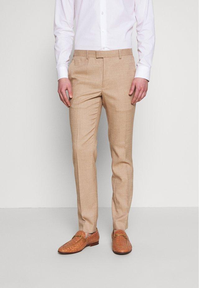 DAX DENZEL - Suit trousers - stone