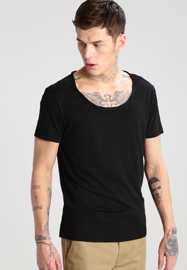 Topman - VNICE SLIM FIT - T-Shirt basic - black