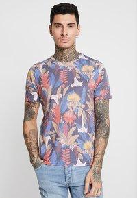 Topman - DETAIL FLOWER  - Print T-shirt - multi-coloured - 0