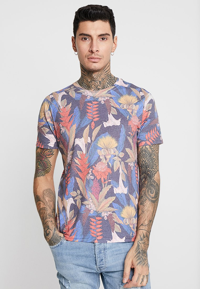 Topman - DETAIL FLOWER  - Print T-shirt - multi-coloured