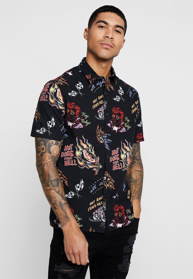 Topman - HOT RODS - Camisa - black