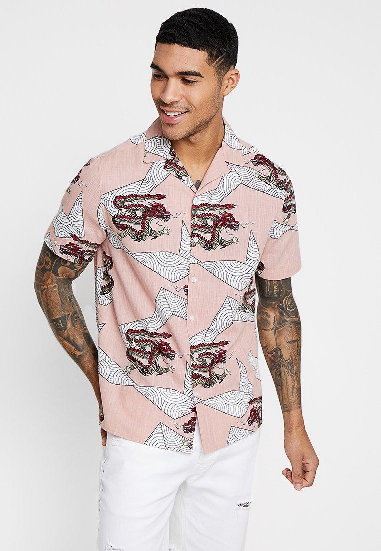 Topman - SAGE DRAGON SCENE REVERE - Camisa - pink