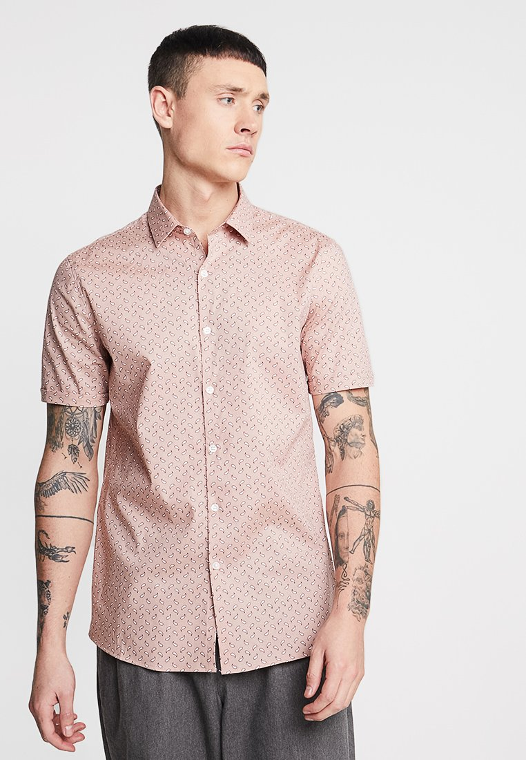 Topman - PAISLEY STRETCH FIT - Camisa - pink