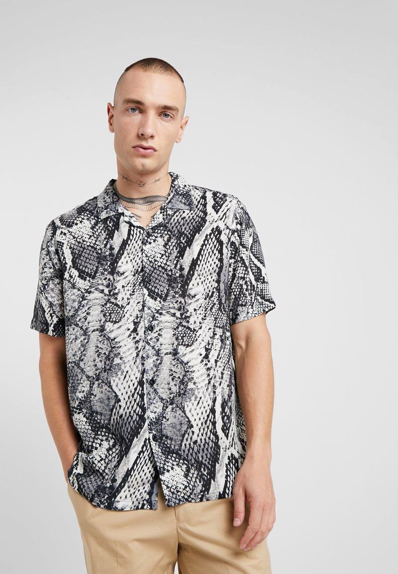 Topman - Shirt - black/white