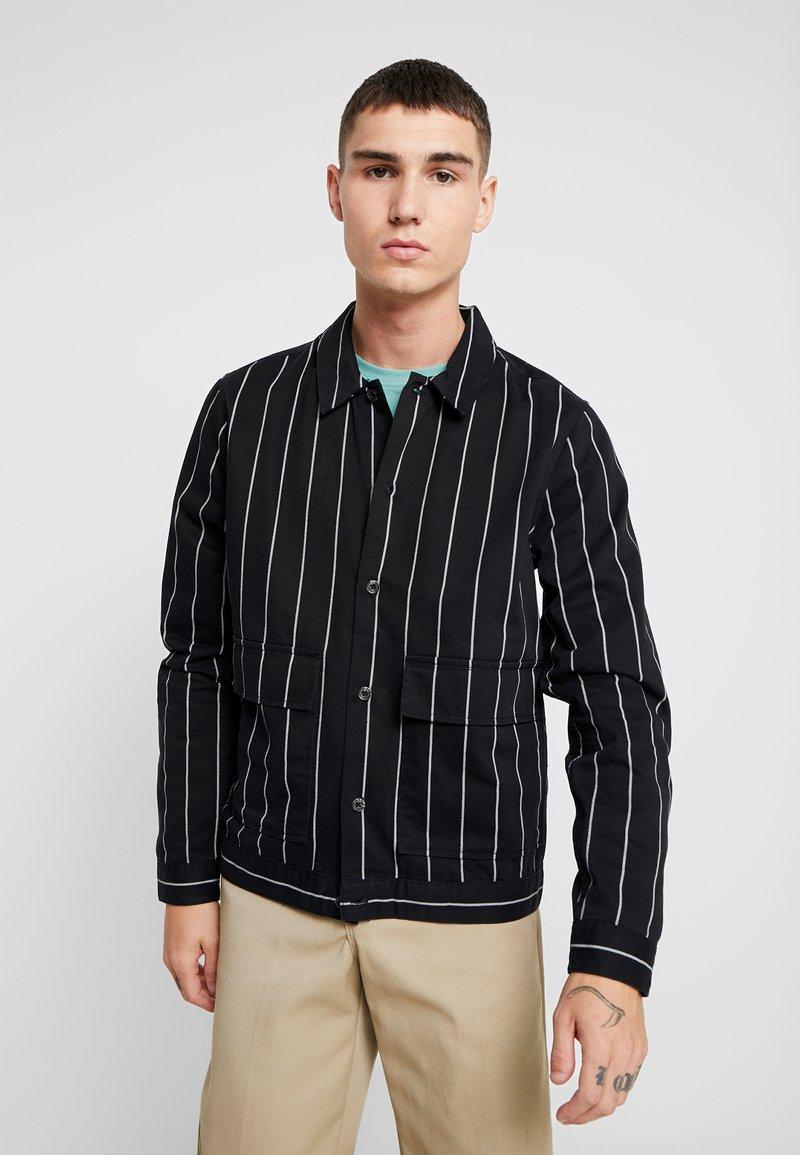 Topman - PINSTRIPE - Summer jacket - black