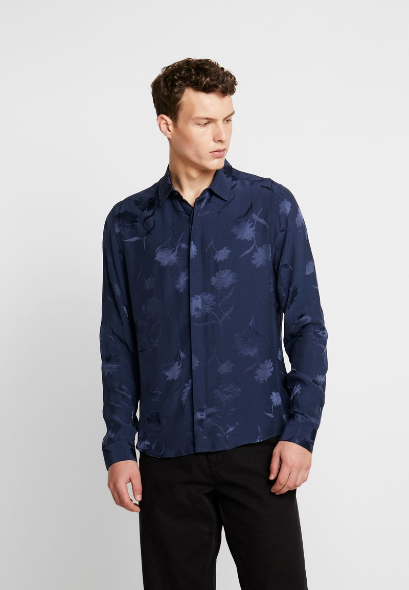 Topman - FLORAL - Business skjorter - navy
