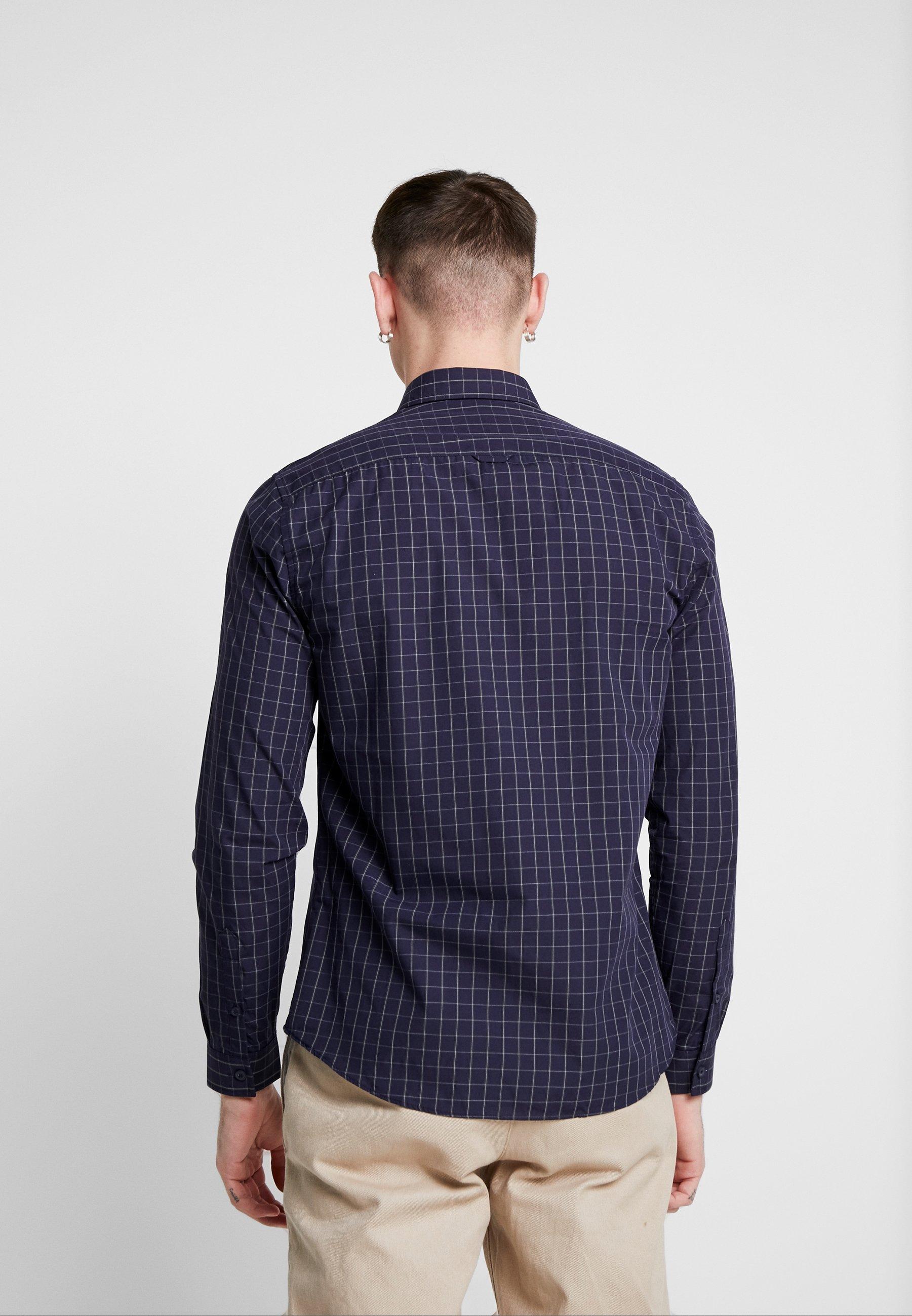 Topman Concealed Check - Skjorte Navy