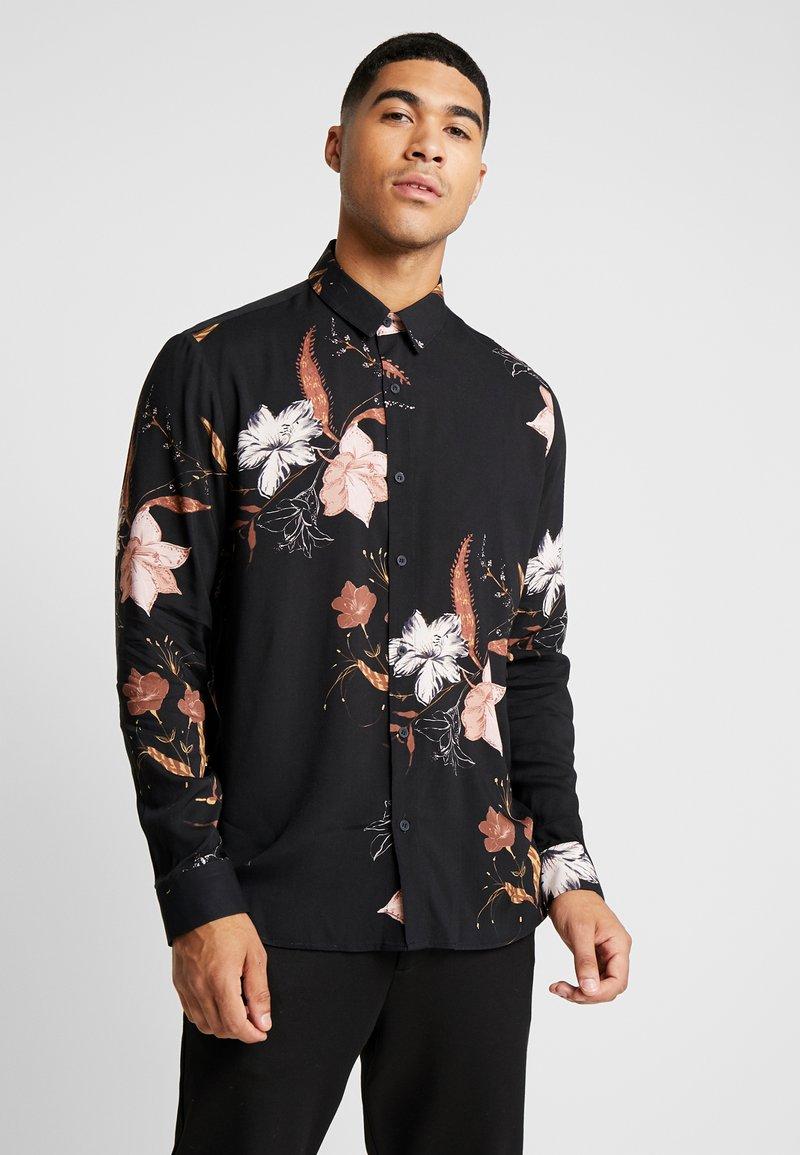 Topman - WINTER FLORAL - Shirt - black