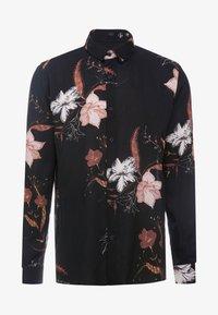 Topman - WINTER FLORAL - Shirt - black - 5