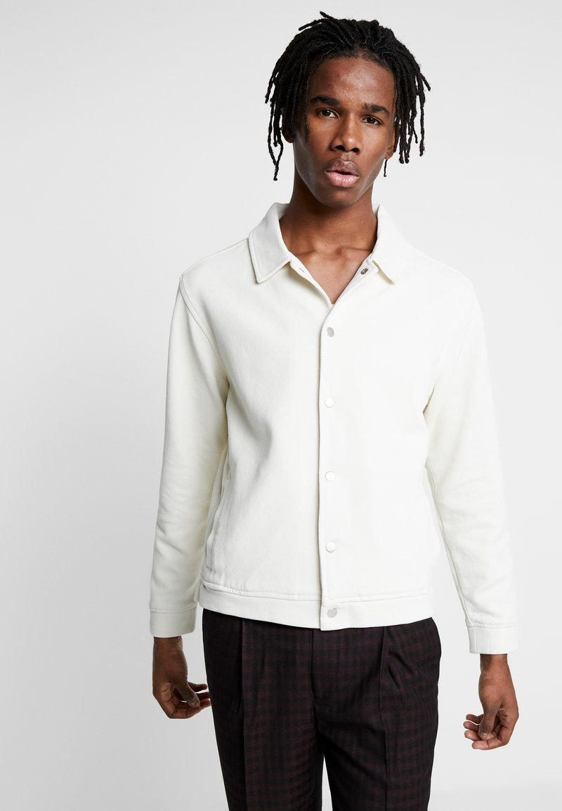 Topman - SLATE SHACKET POPPER THROUGH - Kevyt takki - ecru