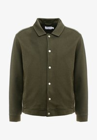 Topman - CHIVE SHACKET POPPER THROUGH - Summer jacket - green - 4