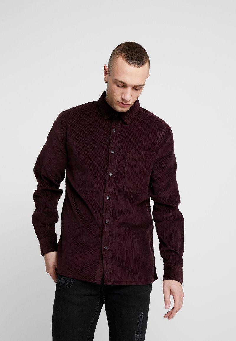 Topman - SHIRT - Camisa - burgundy