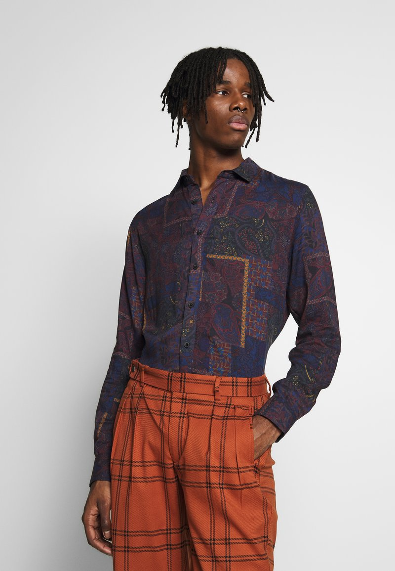 Topman - PAISLEY PATCHWORK - Skjorta - multi-coloured