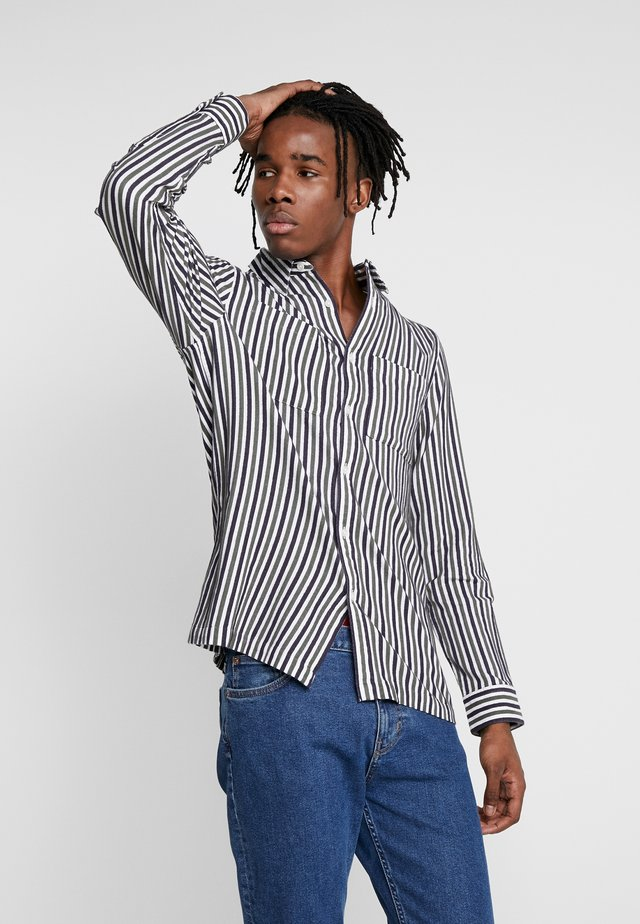 KHAKI/CHARCOAL STRIPE - Shirt - mul