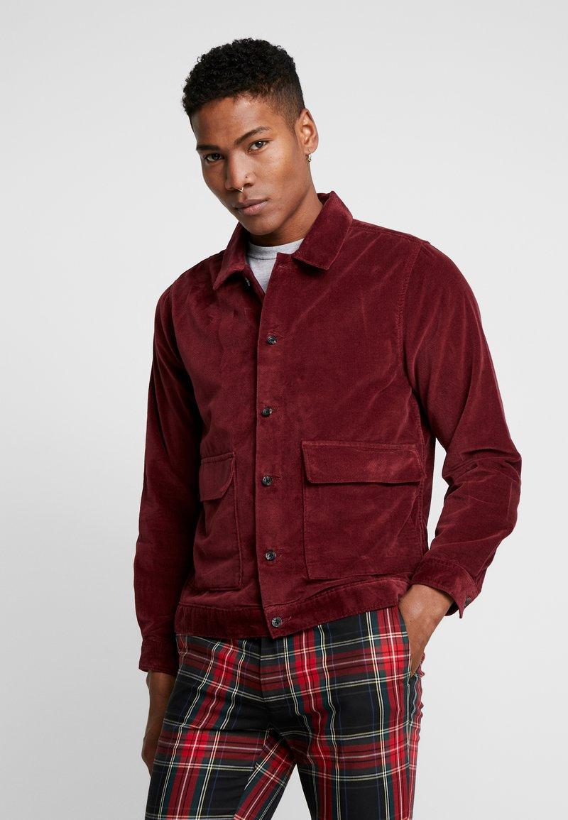 Topman - BURG CROP  - Skjorte - burgundy