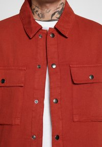 Topman - QUILTED POPPER - Jas - tobacco - 4