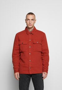 Topman - QUILTED POPPER - Jas - tobacco - 0