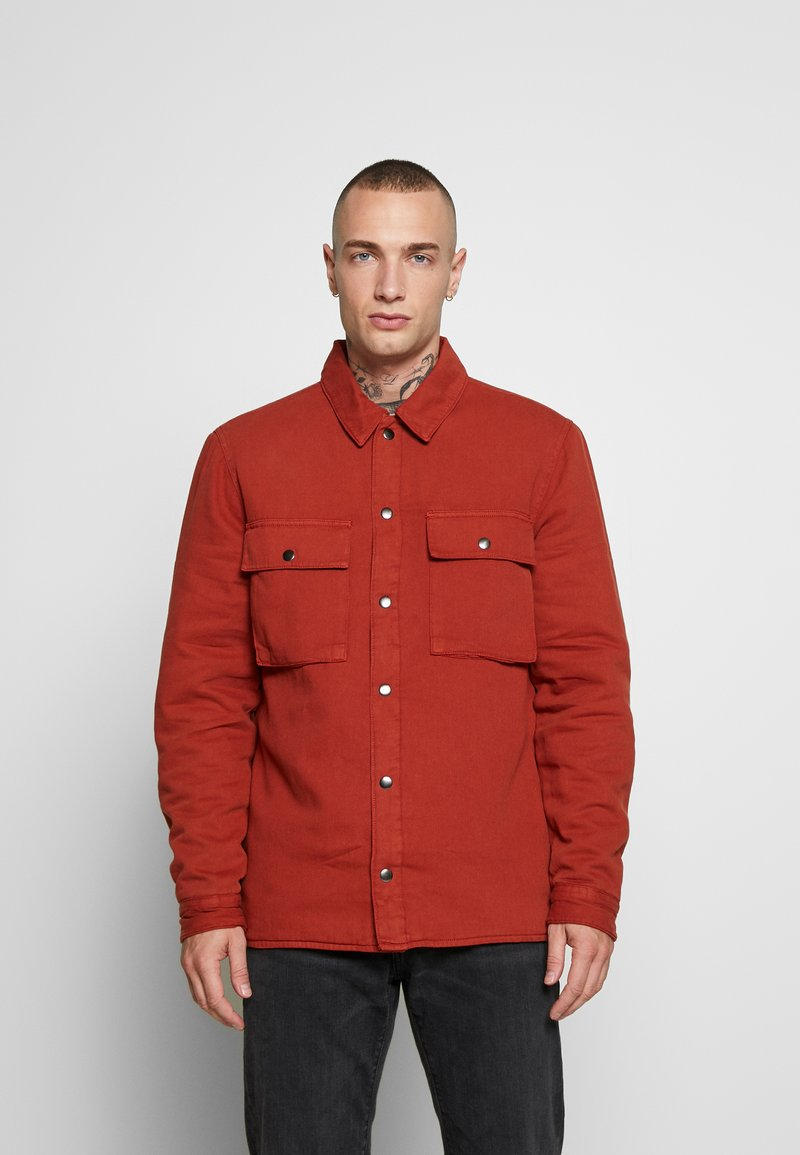 Topman - QUILTED POPPER - Jas - tobacco