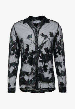 FLORAL SHEER PLACEMENT - Camicia - black