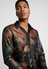 Topman - FLORAL SHEER PLACEMENT - Chemise - black - 3