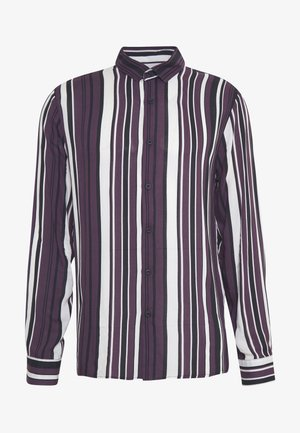 LS BURG/BLACK STRIPE NORSEN - Shirt - bordeaux