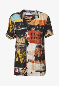 Topman - ABSTRACT PRINT  - Skjorta - black - 4