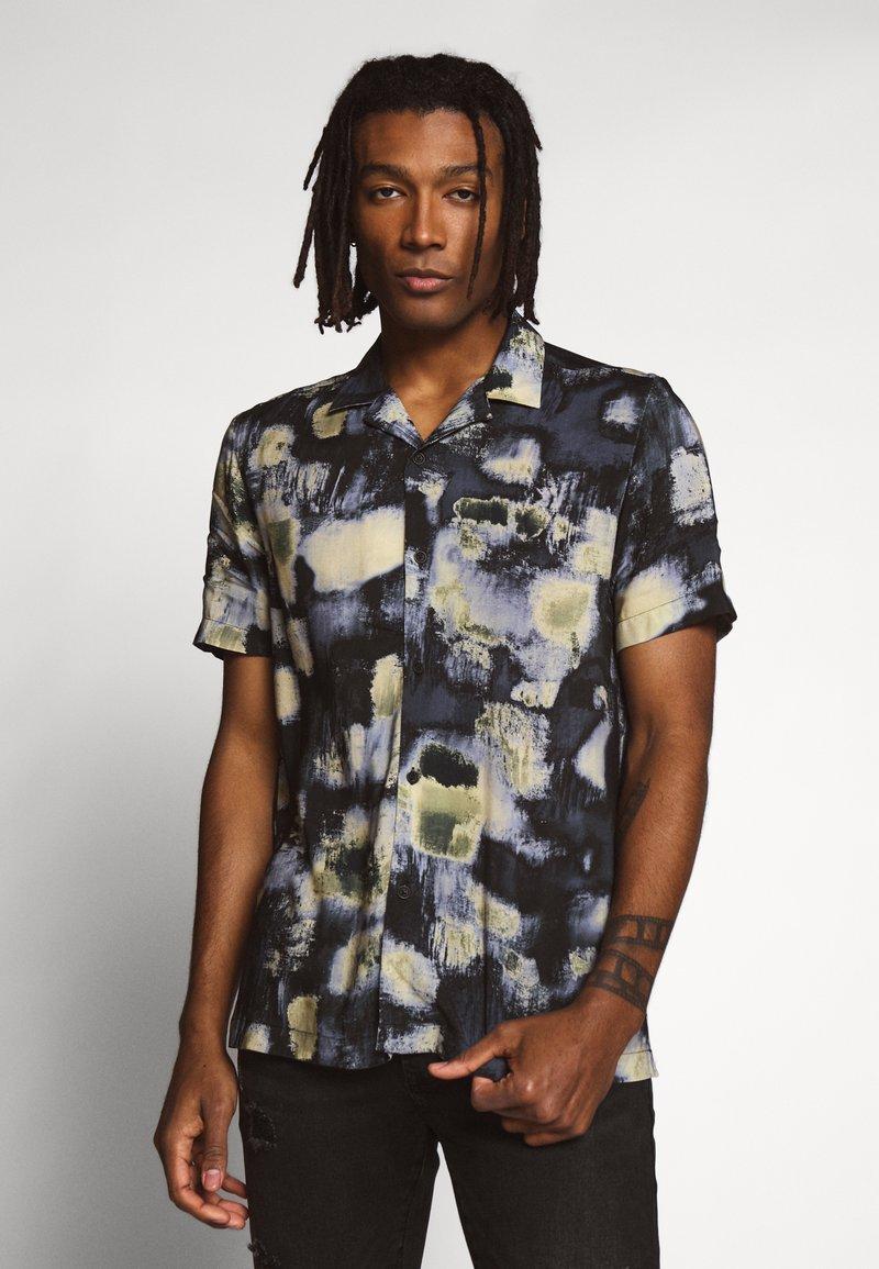 Topman - ABSTRACT PRINT - Camicia - black