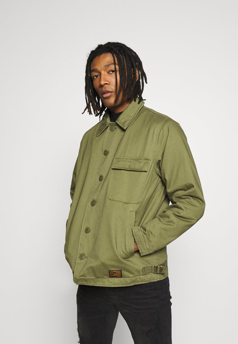Topman - MILITARY DECK JACKET - Light jacket - green
