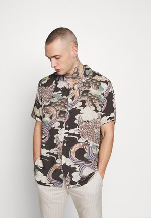 COLOUR CAMO - Camicia - black
