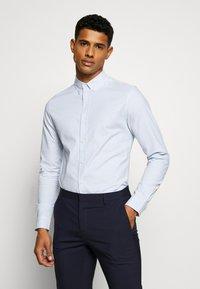 Topman - PINSTRIPE - Camicia elegante - blue - 0