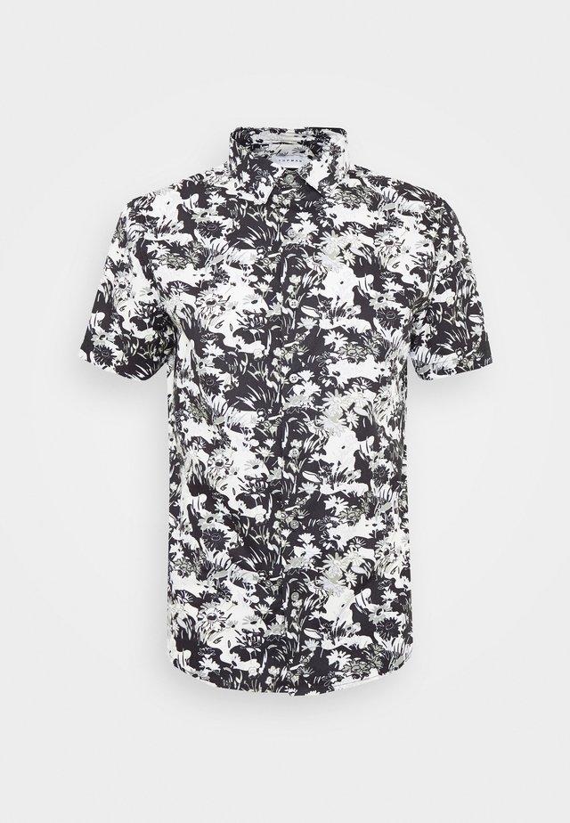 SMART CAMO FLORAL - Camicia - black/white