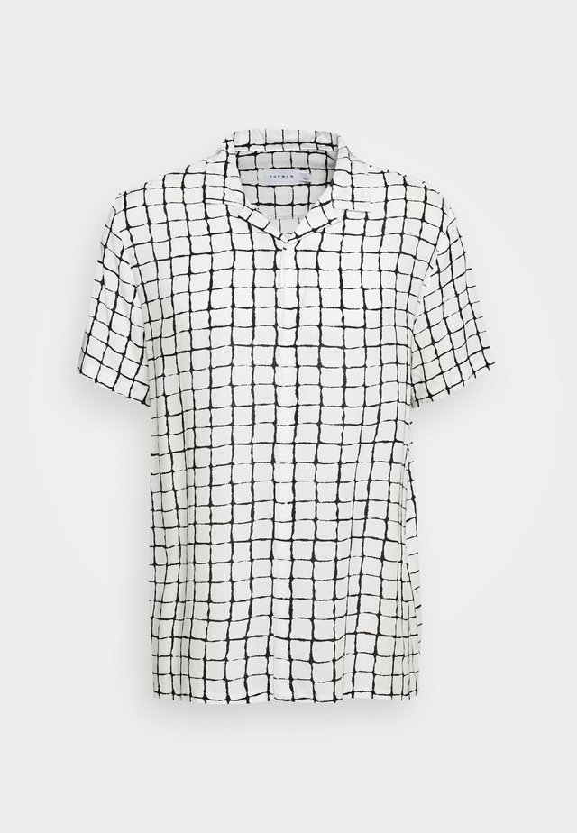 BLACK BASE CHECK REVERE - Camicia - white