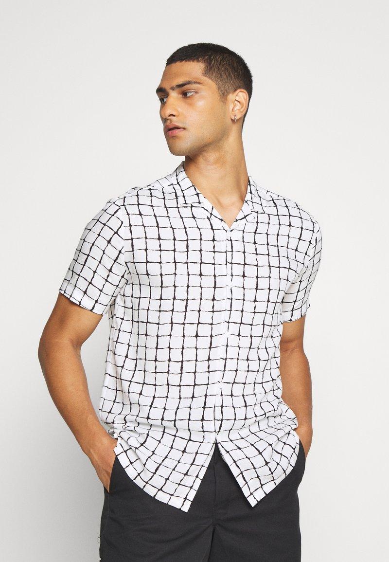 Topman - BASE CHECK REVERE - Camicia - white